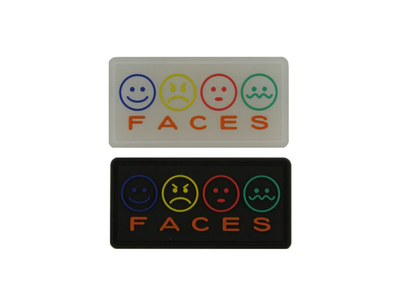 Faces – PVC Labels: 1 Mold, 2 Styles