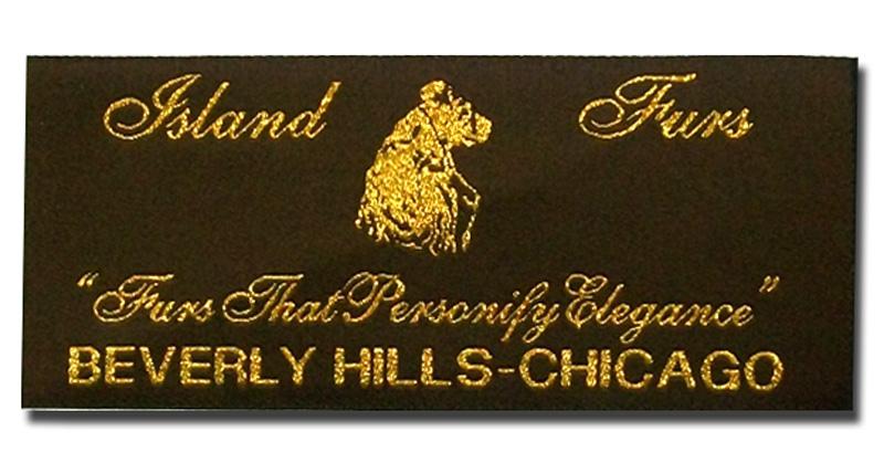 Island Furs Metallic Labels