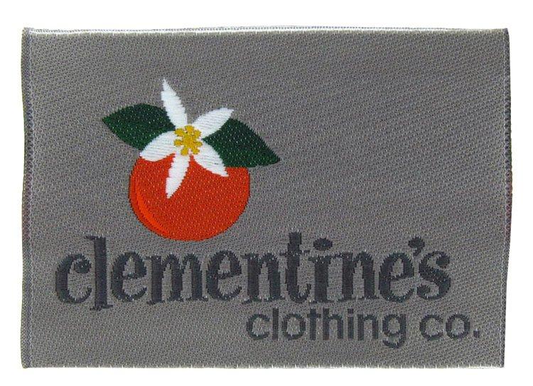 woven label clementinesclothing desc