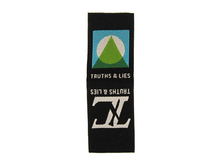 woven label truthsandlies desc
